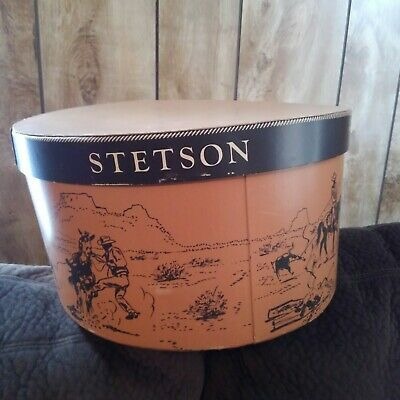 5ddf98c4d774b0 STETSON VINTAGE HAT Box Red with Strap - Box Only No Hat - $9.99 ...