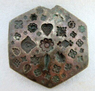 Antique Old Hand Carved Bronze Multi Figure Design for Jewelry Big Die Mold Seal