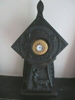 Unusual Antique Black Forest Wooden Arts and Crafts Gothic pocket Watch Holder