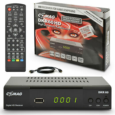 Opticum HDTV Digital Kabel Receiver DVB-C FULL HD Kabelreceiver 1080p USB + HDMI
