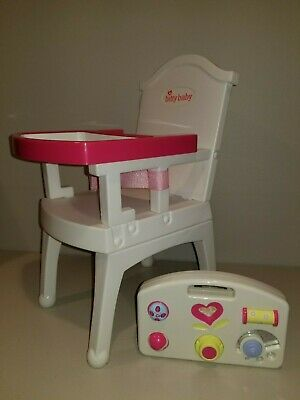 American Girl Bitty Baby Doll Furniture High Chair Activity Play Box Accessory