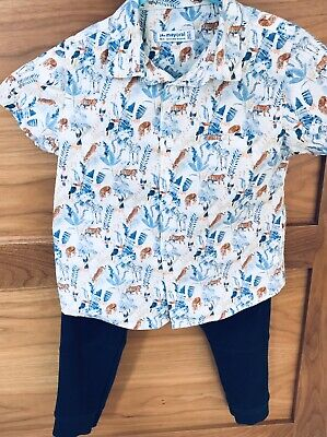 mayoral Designer Boys Short Sleeved Shirt