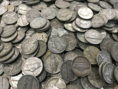 Lot WW2 Silver War Nickels $1 face (20 coins)