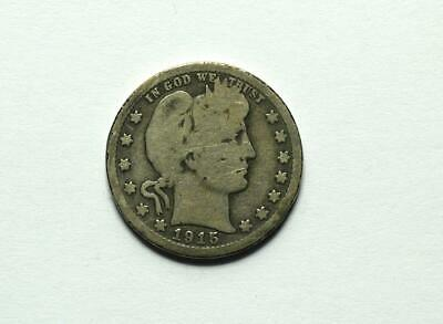 1915-S US Silver Barber Quarter Good Condition