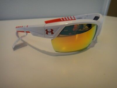 ba04d4e2e9 UNDER ARMOUR IGNITER 2.0 Sunglasses Shiny White Frame   Blue Mirror ...