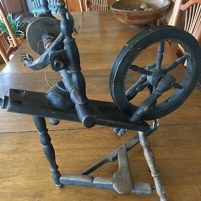 Signed Antique Salesman Sample Spinning Wheel, Pre-1900