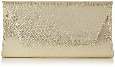 Swanky Swans - Mischa Faux Leather Clutch, Carteras de mano Mujer, Gold,