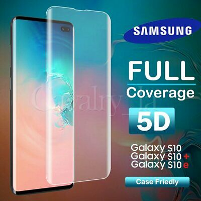 For Samsung Galaxy S10 Plus Note 9 Full Cover 5D Tempered Glass Screen Protector
