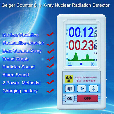 Geiger Counter Radiation Detector Beta Gamma X-ray Tester Meter Particle Sound