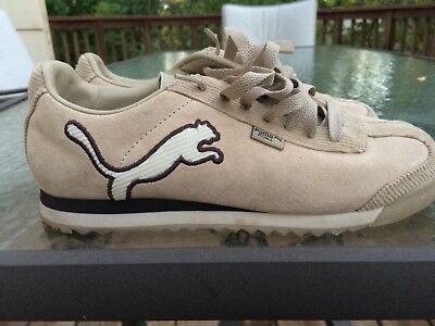 New Puma Roma Athletic Shoes Women Sz US 7.5 EUR 38 Wide Lace Up Closure  Beige 8547ee4ee