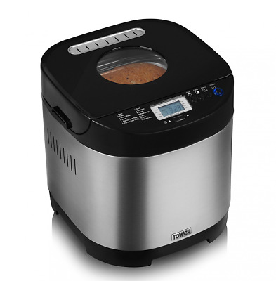 Tower T11001 Digital Bread Maker with Gluten Free Setting,1000 g Capacity - New