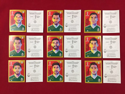 Panini Russia 2018 World Cup 18 Mexico Edition 9 Coca Cola Stickers CC set