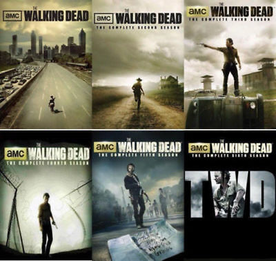 The Walking Dead DVD Season 1-6 Complete DVD Set Collection Series TV Lot All R1