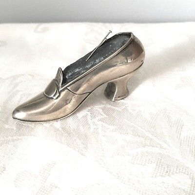 Antique Sterling Silver Shoe Pin Cushion