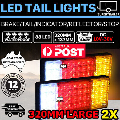 2X 88 LED Tail Lights Ute Trailer Caravan Truck Stop Indicator rear LAMP 10-30V