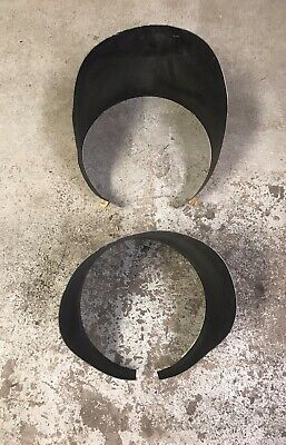 Set Of 2 Vintage LFE Aluminum Traffic Light Signal Cutaway Visor Shield