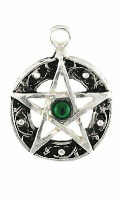 Pentacle Amulet with Endless Celtic Knot Pewter Pendant