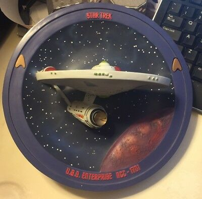 Star Trek Enterprise Bradex 3-D Collectible Plate Dated 1995