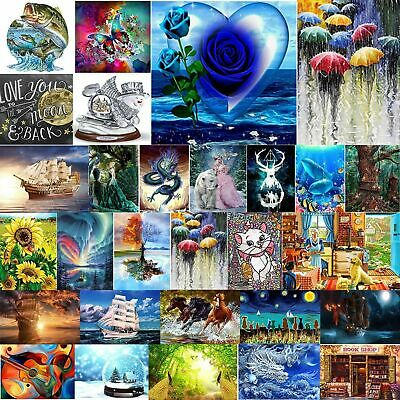 Drill DIY 5D Diamond Painting Embroidery Cross Hand Crafts Stitch Kit Home Decor