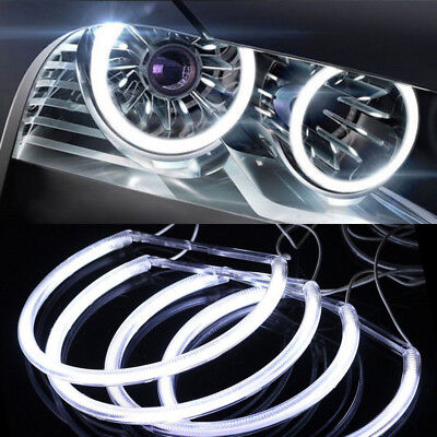 White Angel Eye Halo LED Ring Light Non-Projector For BMW E46 3 Series 4x CCFL