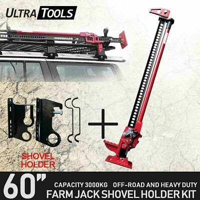 "Ultra Tool Hi High Lift Farm Jack 60"" Inch & Shovel Holder 4WD Offroad Recovery"