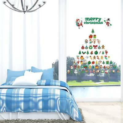 Creative Santa Claus Snowman Christmas Decal Window Glass Vinyl Wall Stickers
