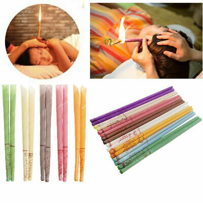 10/20Pc Earwax Candles Hollow Blend Cones Beeswax Cleaning of Ear Thai Massage