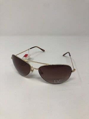 e1fb56b2bb503 NEW Diane Von Furstenberg DVF 113S Aviator Women s Gold Sunglasses
