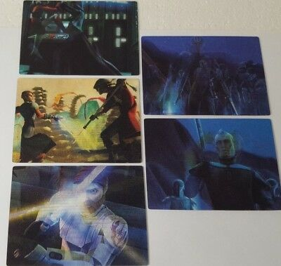 CLONE WARS 2010 Rise of the Bounty Hunters MOTION Trading Card Set 5 Star Wars