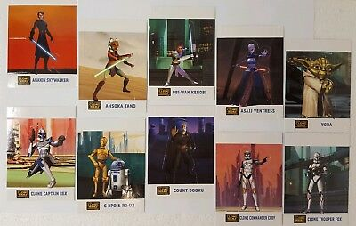 CLONE WARS Pop Ups  Trading Card SET  of 10  Topps Star Wars 2008