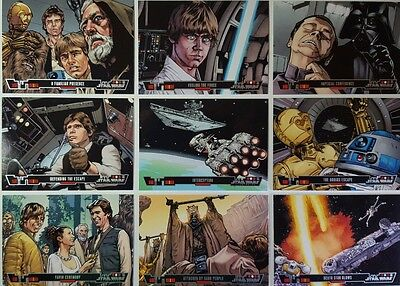"STAR WARS  "" A NEW HOPE "" ILLUSTRATED Trading Card  SET OF 100  - 2014"