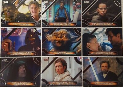 2018 Star Wars Galactic Files MOVIE QUOTES Trading Card Sub Set of 10  MQ1 - 10