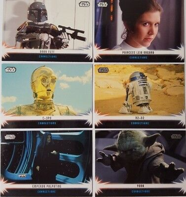 STAR WARS 2013 JEDI LEGACY Trading Card Sub Set of 15 TOPPS CONNECTIONS