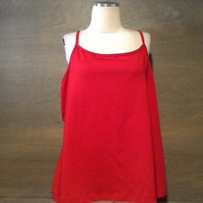 d085b44a2d Lane Bryant Sleeveless WOMENS STRETCH RED Tank Top SIZE 18 20 AJUSTABLE  STRAPS