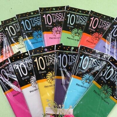 10 Pcs Tissue Paper Flower Clothing Shirt Gift Packaging Craft Wrapping Papers