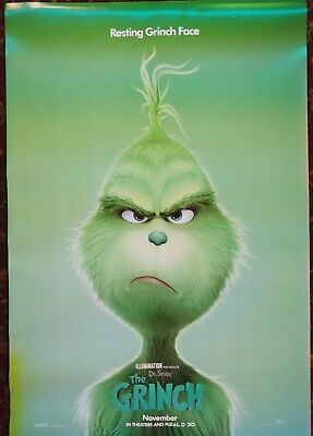 "DR. SEUSS' THE GRINCH 2018 Orig Movie Poster 27x40 2-Sided Authentic ""C"" Version"