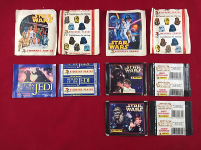 Panini Star Wars 1977 + 1983 + 1996 5 Different Packets Collection