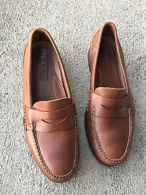 a737f7df5e5 PETER BLAIR Brown Leather Moc Toe Driving Moccasin Penny Loafer Shoe Size  11.5