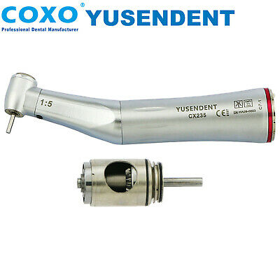 COXO Dental LED Fiber Optic 1:5 Electric Inner Water Contra Angle Handpiece KAVO