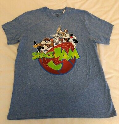 bba7a7c3a98f62 Warner Brothers Team Looney Tunes Space Jam Vintage Style T-Shirt Size   Large