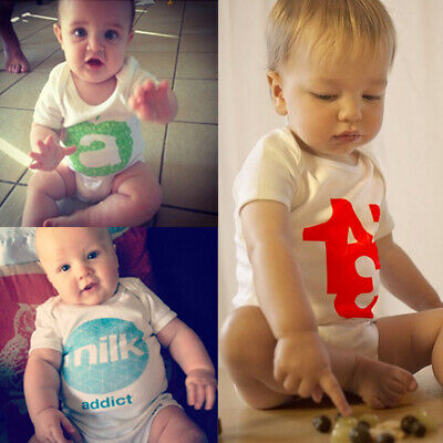 Infant Toddler Baby Kid Girl Boy Cotton Romper Playsuit Bodysuit Clothes Outfits
