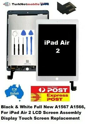 For iPad Air 2/ A1567 A1566 Full LCD + Touch Screen Digitizer Replacement