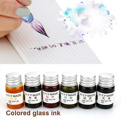 0EBD Durable Glass Pen Ink Gold Powder Non Carbon Simple Color Ink Practice