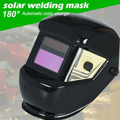 Pro Solar Powered Auto Darkening Welding Helmet Arc Tig Mig Grinding Welder Mask