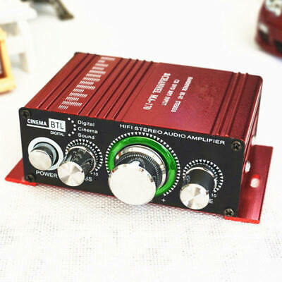 12V Car Motor Bike Bluetooth FM HiFi Stereo MP3 Speaker Audio Amplifier AMP