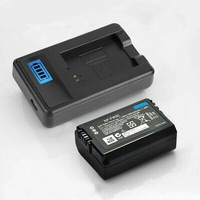 NP-FW50 Battery Charger 600mAh for Sony Alpha A6000 A6300 A6500 A7r A7 Camera