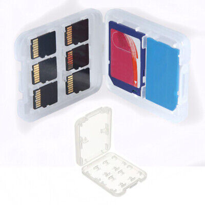 8 In 1 Storage Protector Micro SD SDHC TF MS Case Holder Memory Card Box