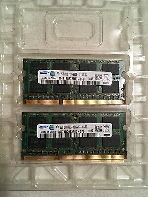 2X2GB 2Rx8 PC3-8500 SODIMM Memory RAM iMac Macbook Pro 30dayWT Samsung 4GB Kit