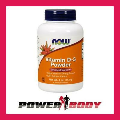 NOW Foods - Vitamin D-3 Powder, with Calcium Citrate - 113 grams