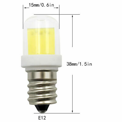 1pcs/10pcs E12 Base C7 LED Light bulb 1511 4W Ceramics glass bulb White/Warm